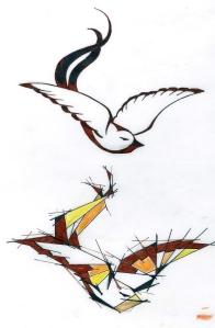 sparrow- line work
